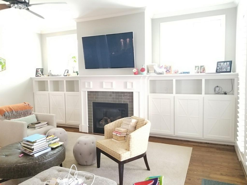 X-Detail Doors Added to Existing Fireplace Bookcases