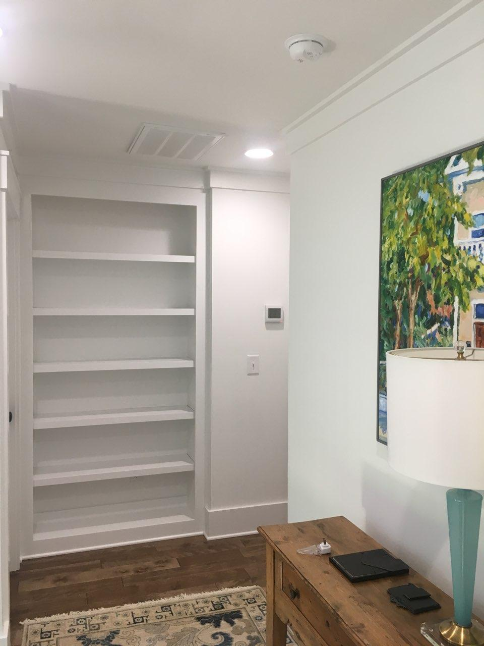 Recessed Bookcase with Fixed Shelves