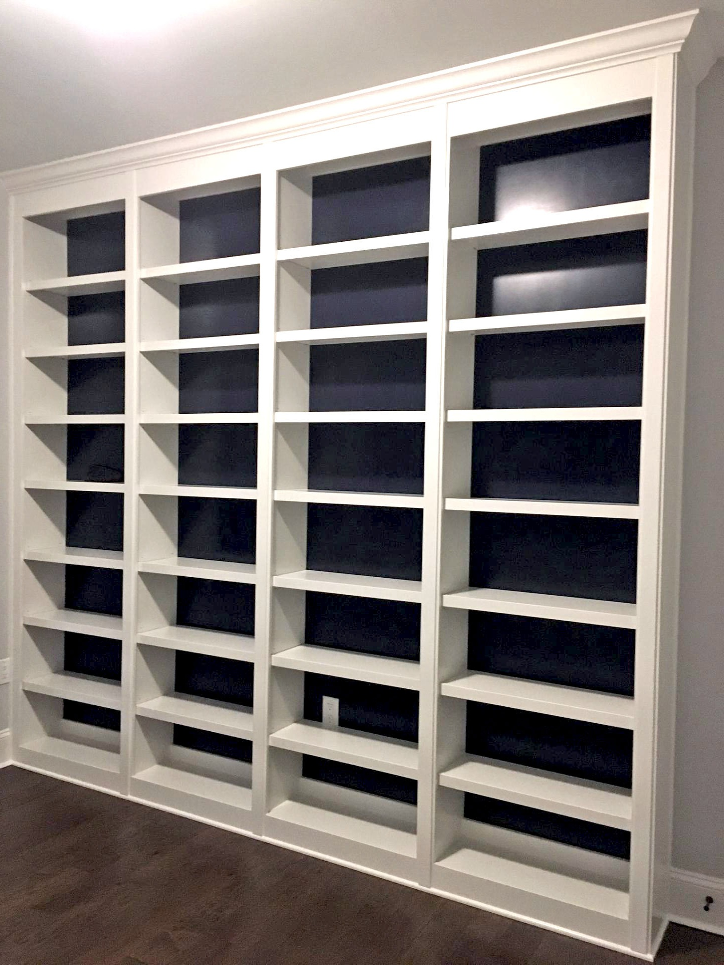 Bookcase with Accent Backer Color