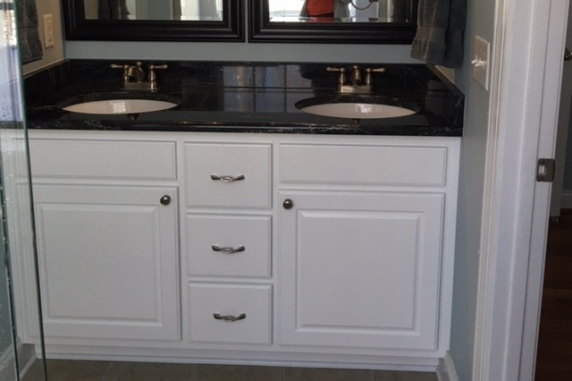 Custom Vanity with Raised Panel Door-Fronts