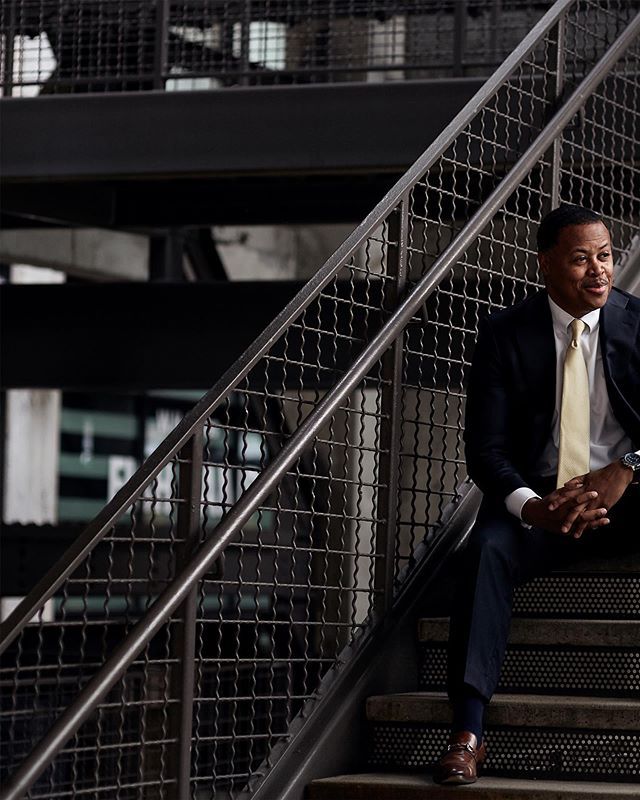 New portraits for @atlantabeltline CEO Clyde Higgs.