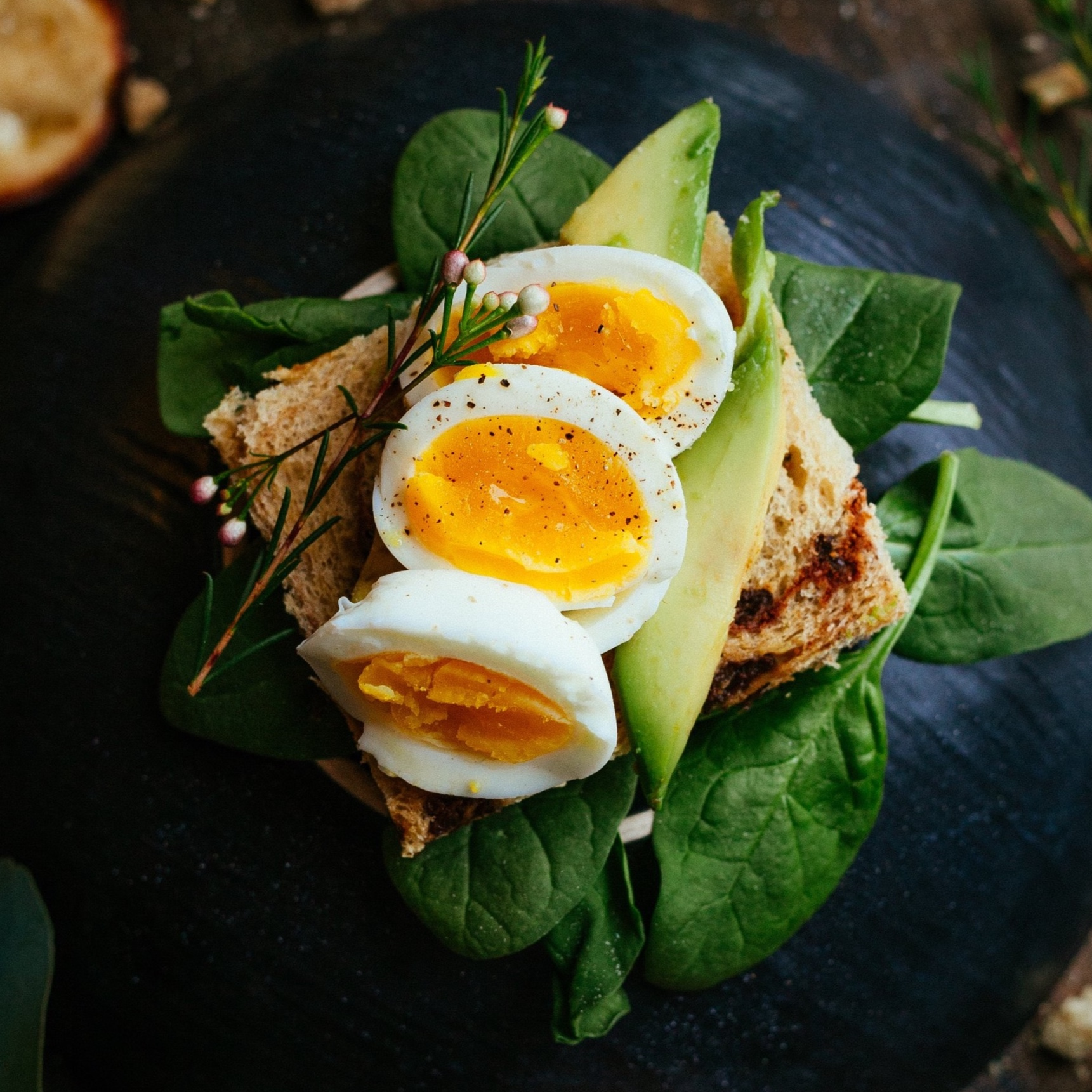 Eggs, Spinach and Avocado are high in folate