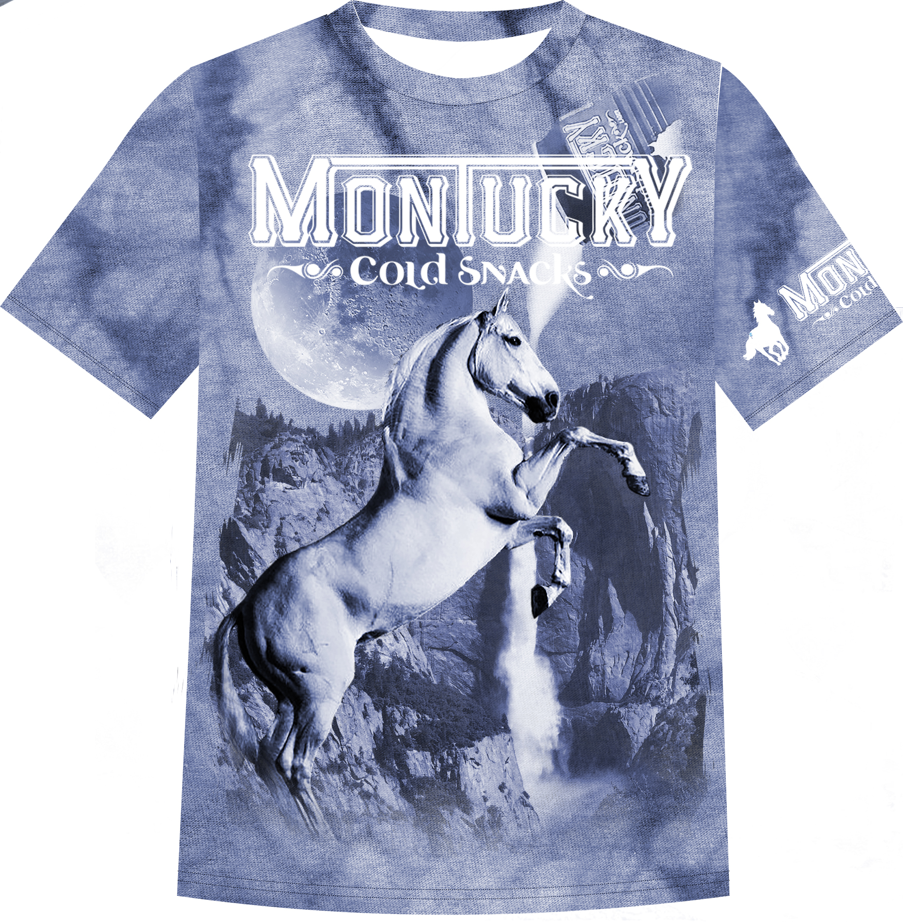 """submission to montucky cold snacks """"gas station t-shirt"""" competition in 2017, it won, and was produced and distributed by montucky cold snacks."""