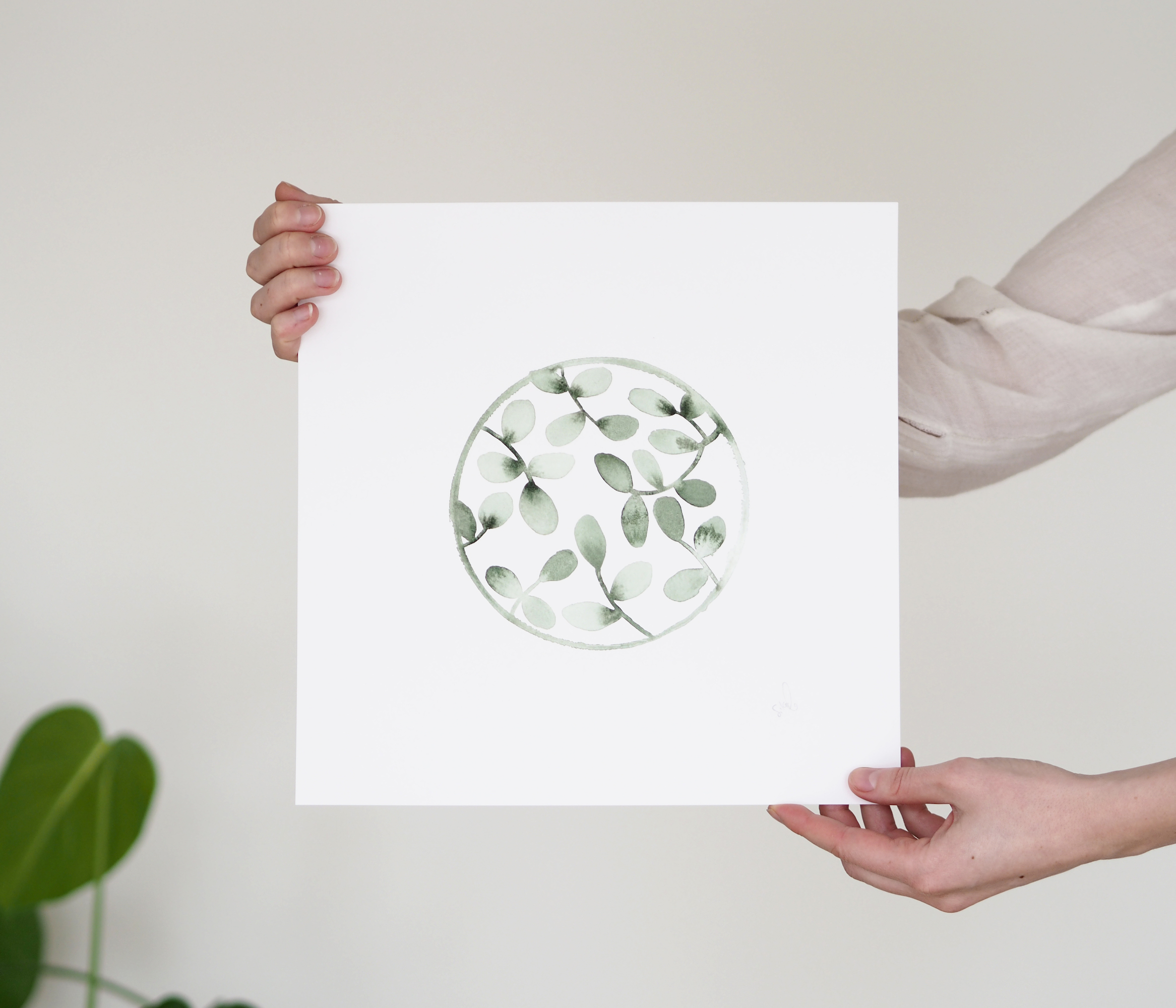 Greenhouse art prints by Silke Bonde