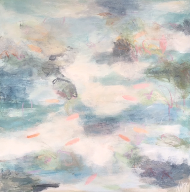 "Koi Pond II, 48"" x 48"", Sold"