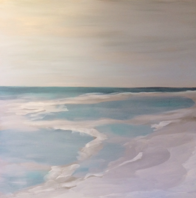 "Seaside, 48"" x 48"", Sold"