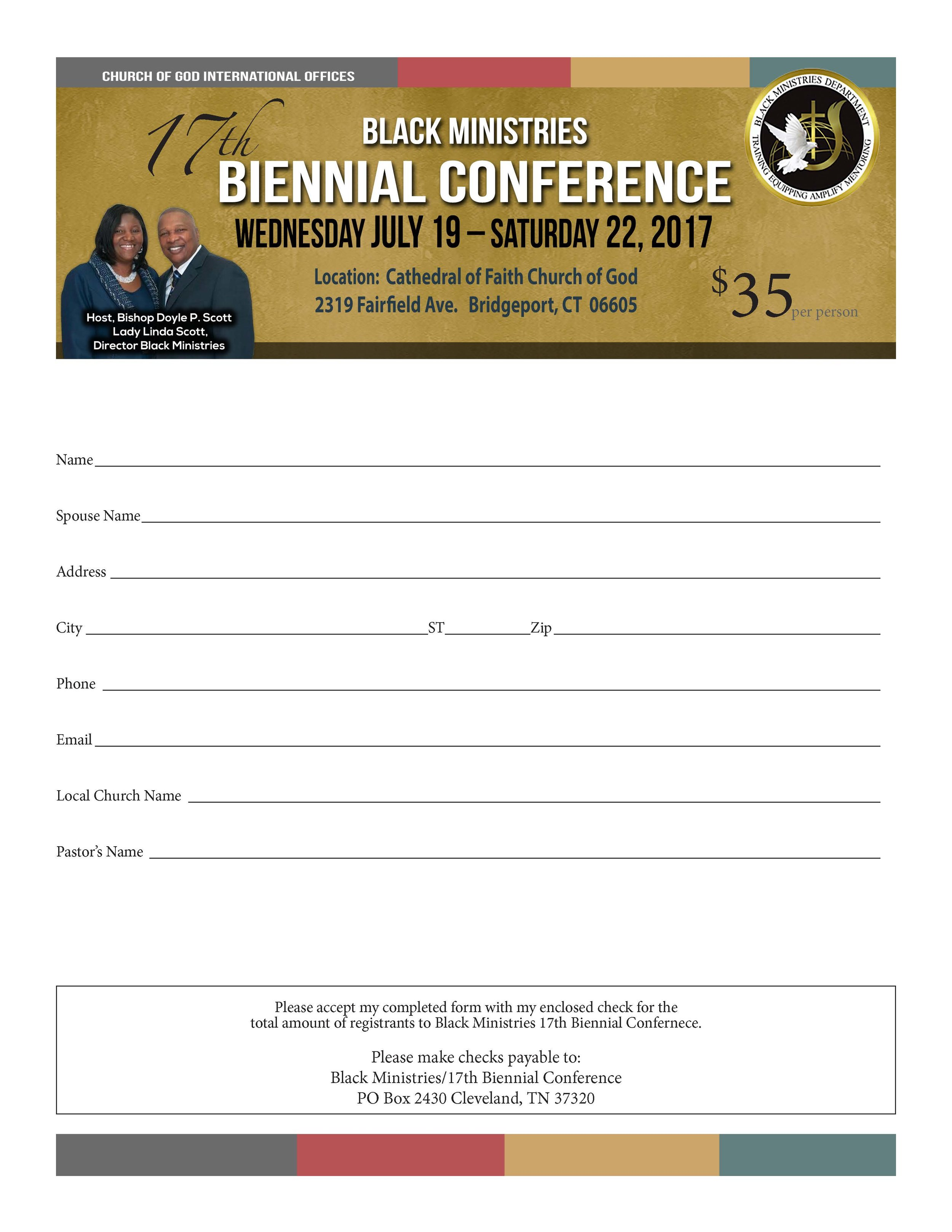 Click to download registration form.
