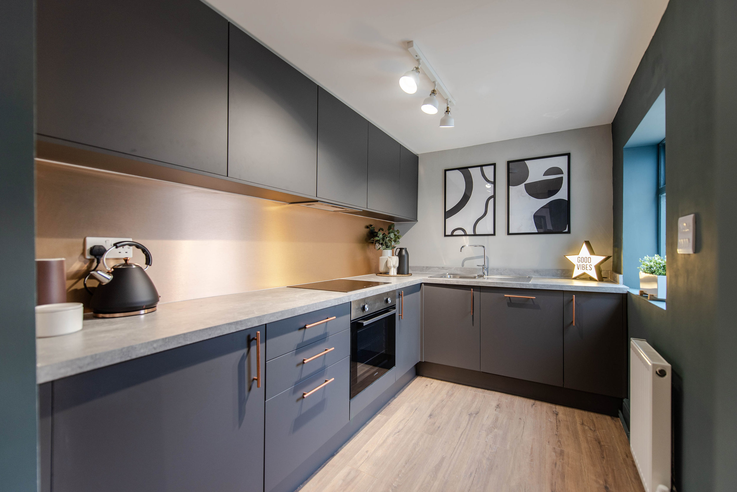 Professional HMO communal kitchen