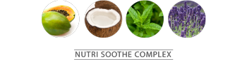 Coconut Water • Shiso Mint Leaf Extract • Papaya Fruit Extract • Lavender Oil