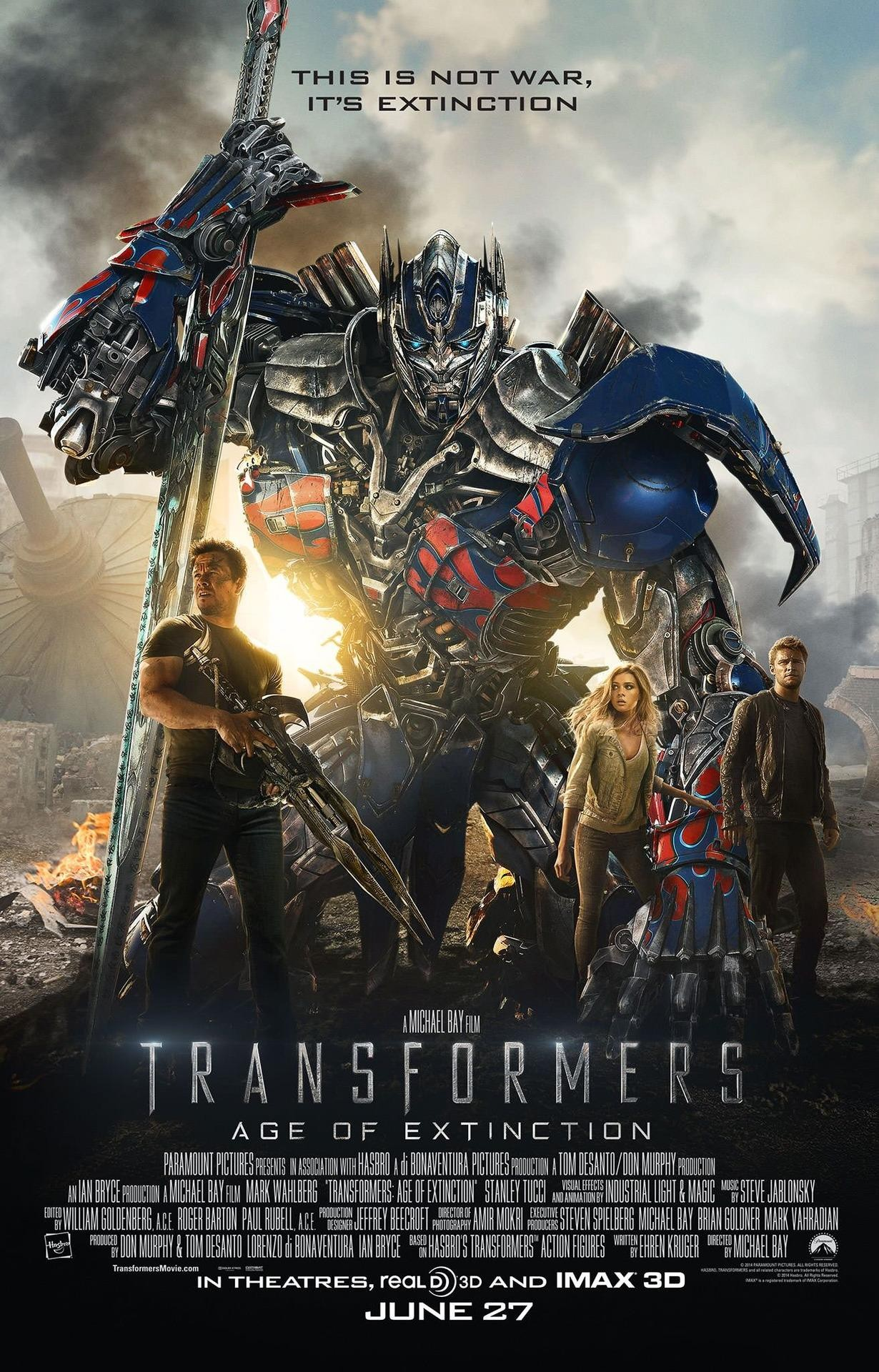 Transformers: Age of Extinction (additional music). Director, Michael Bay. Click on the picture for more info.