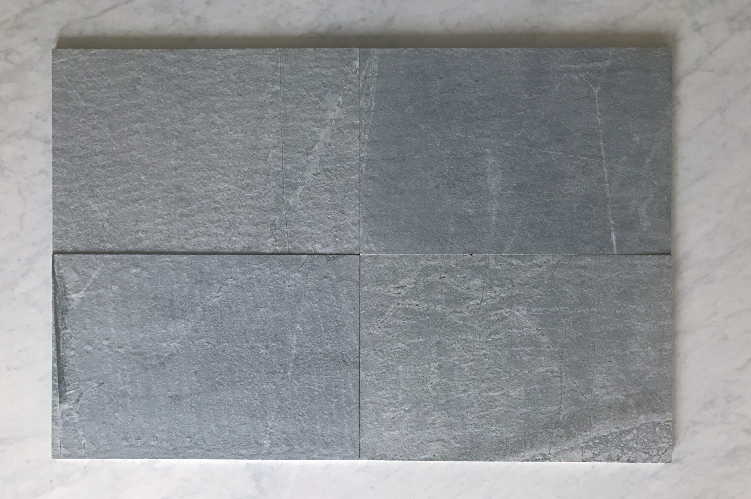 Blue Porphyry Granite 16x24 Flamed and Brushed
