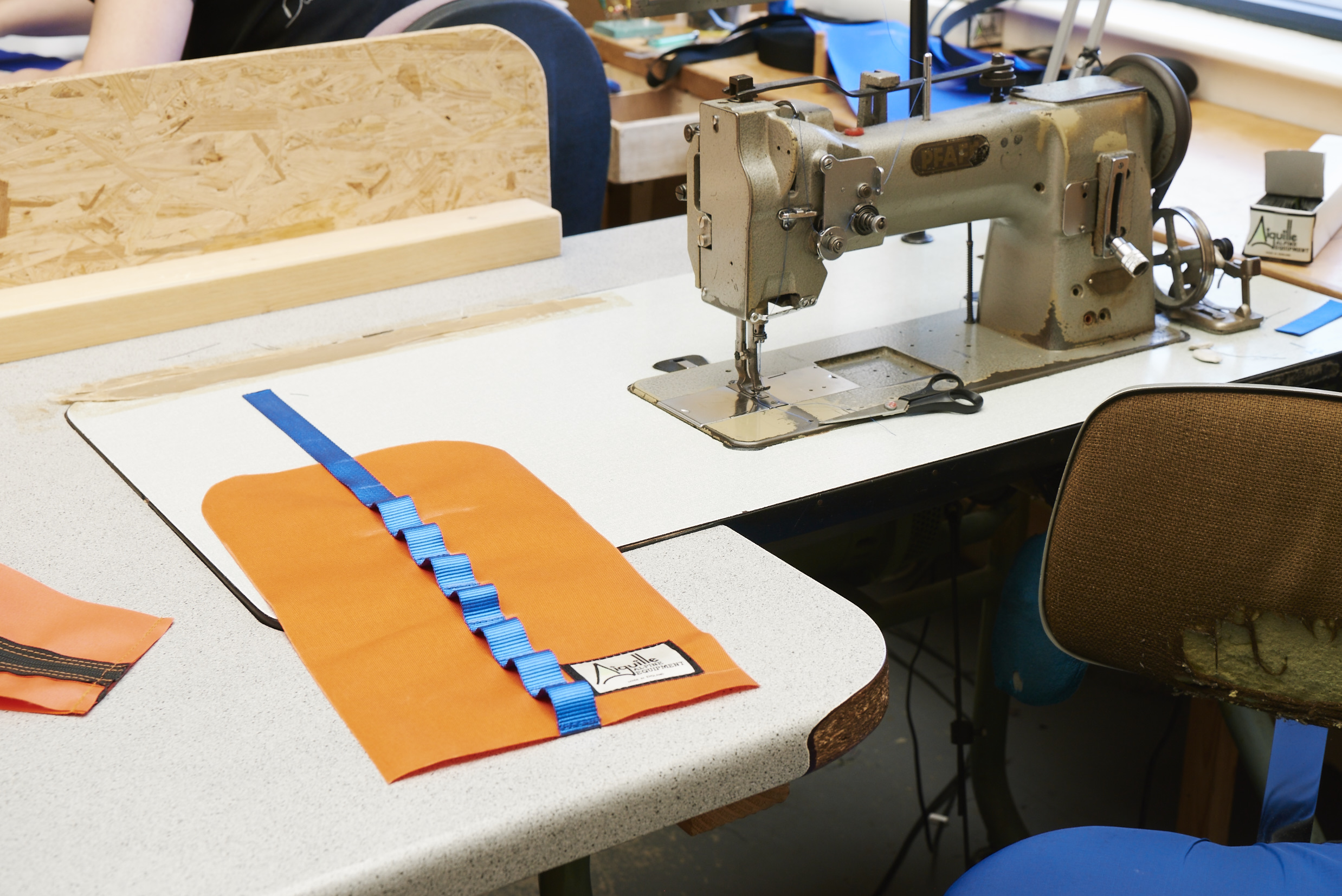 Aiguille Alpine bags are made the bombproof way, on trusty sewing machines with experienced hands.