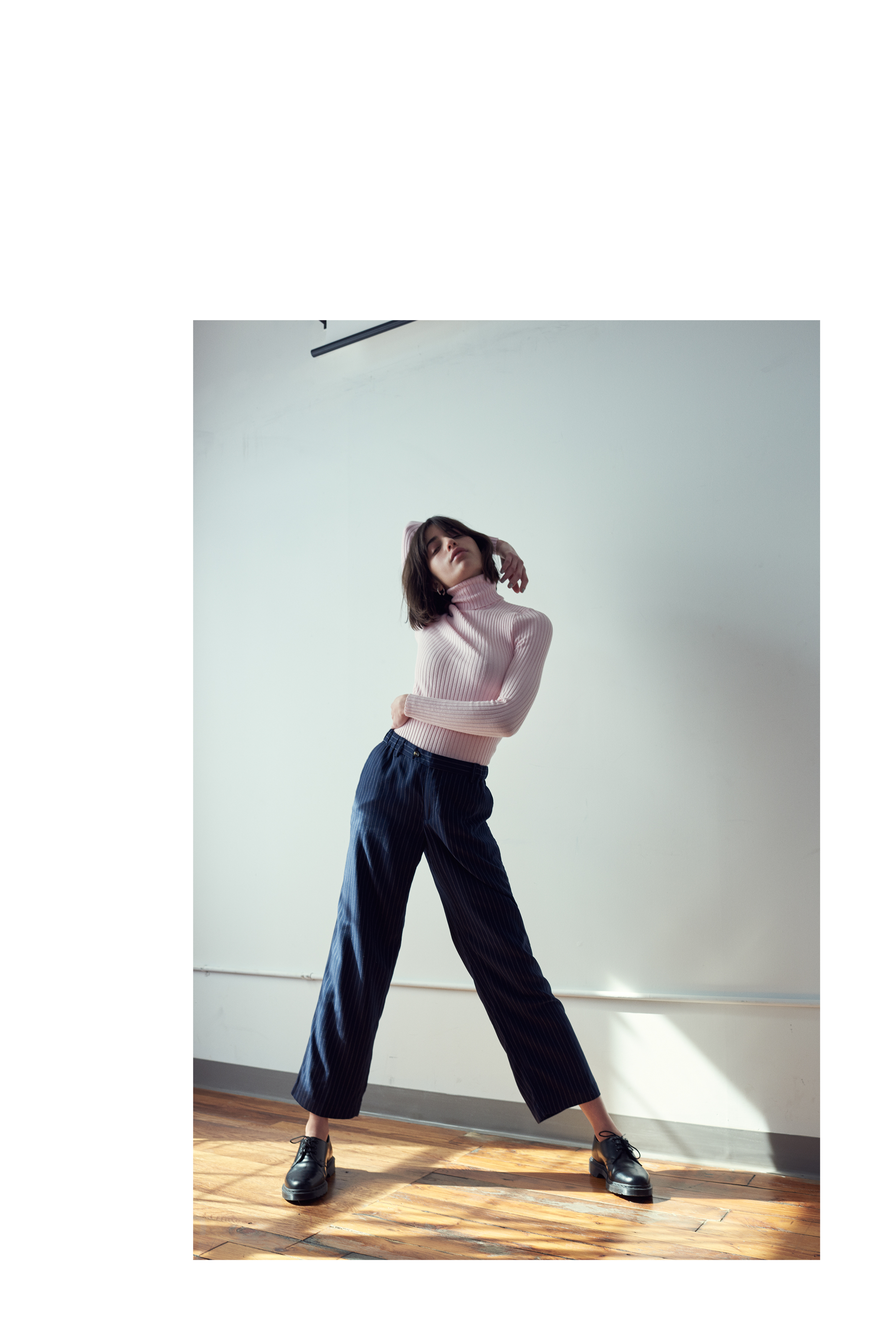 Knit Turtleneck  Gui Giu  Neckpiece  Lucia Pearl   Trousers and shoes  stylists own