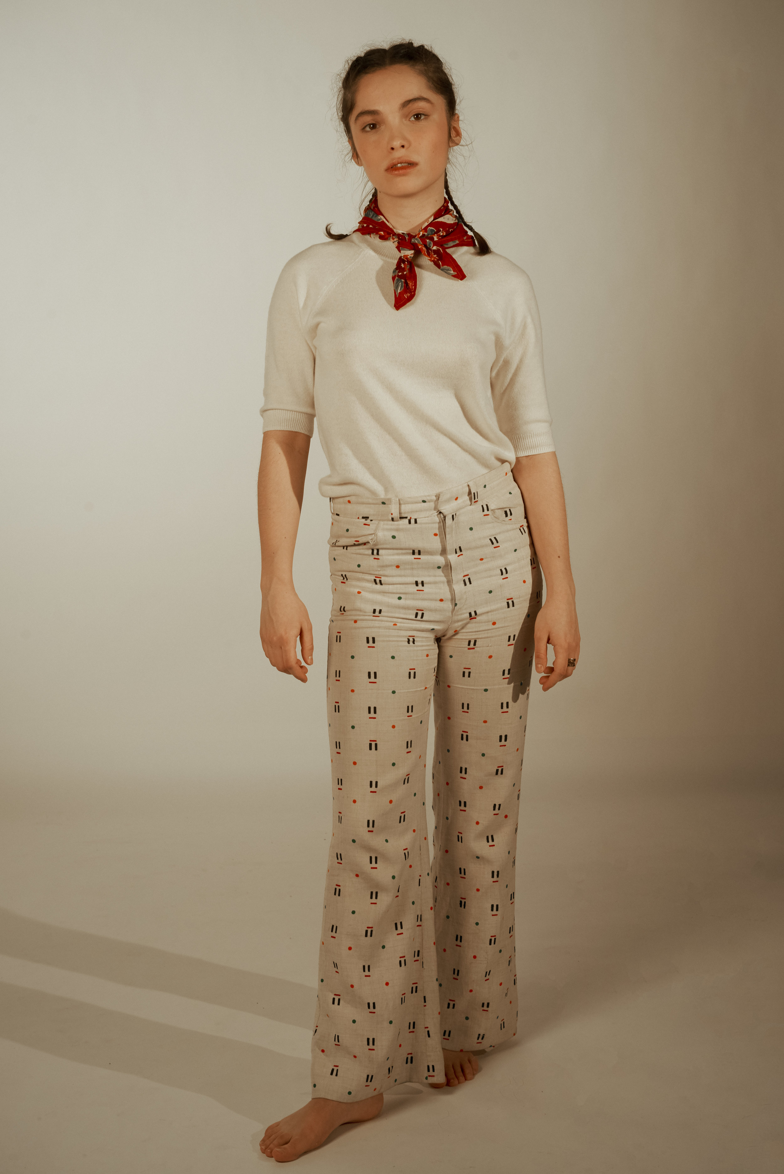 Quinn wears  Margaret Howell   Lola wears   Vintage