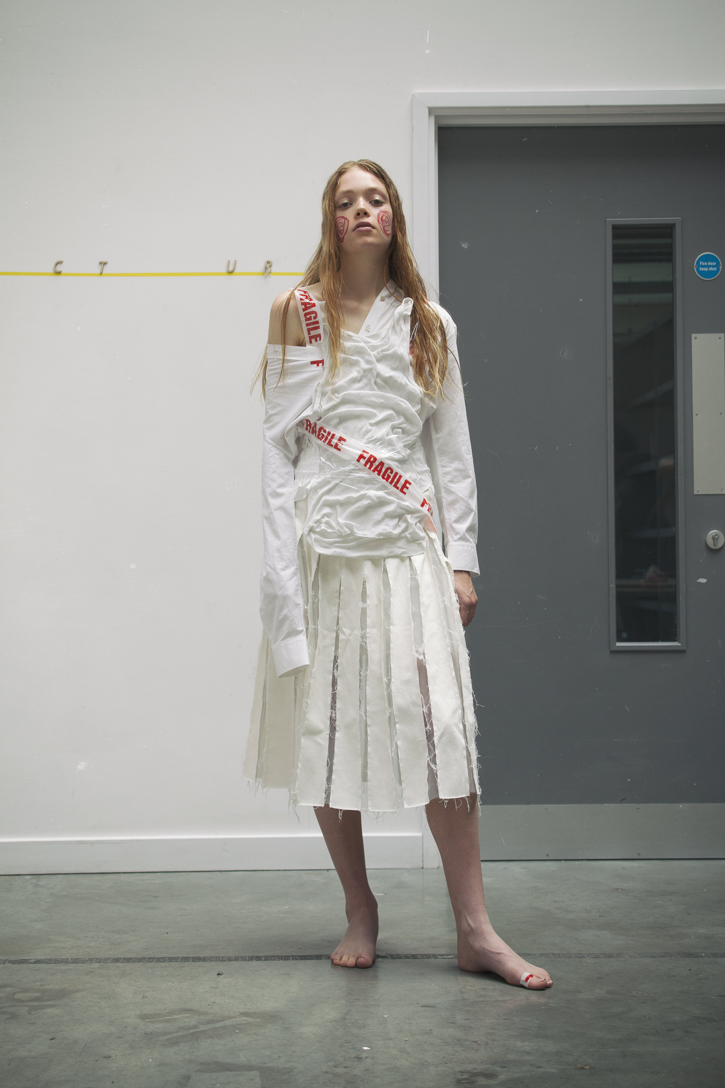 Shirt  ALEXACHUNG  Skirt  Regina Pyo at Young British Designers