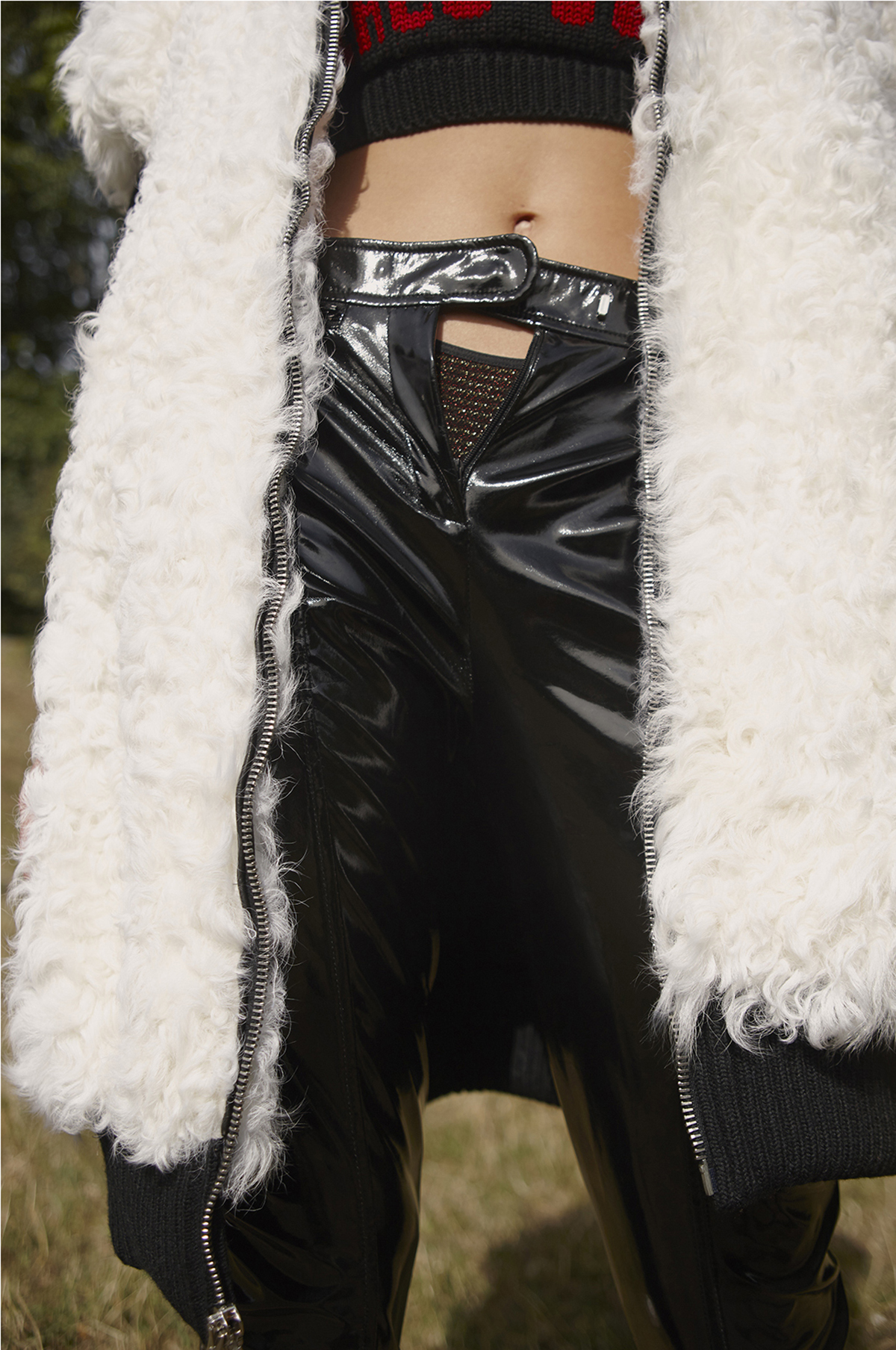 Top and Trousers  GCDS    Fur Vest  Nervure    Underwear  Love Stories