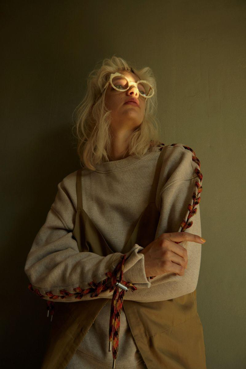 Glasses  Pawaka   Jumper  Acne Studios   Dress  Véronique Leroy