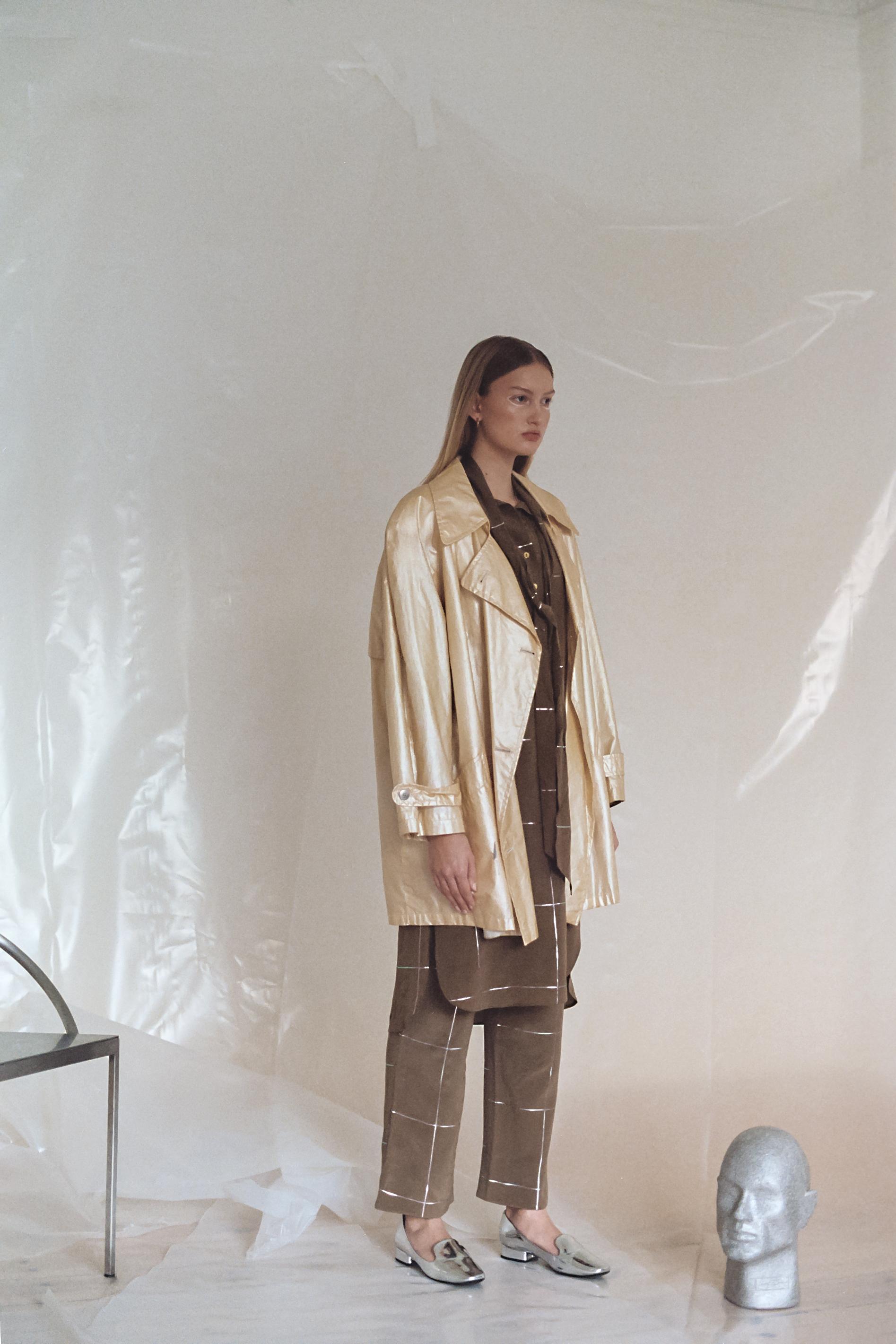 Brown Top & Pants  Stine Goya  Shoes and Vest  Vintage
