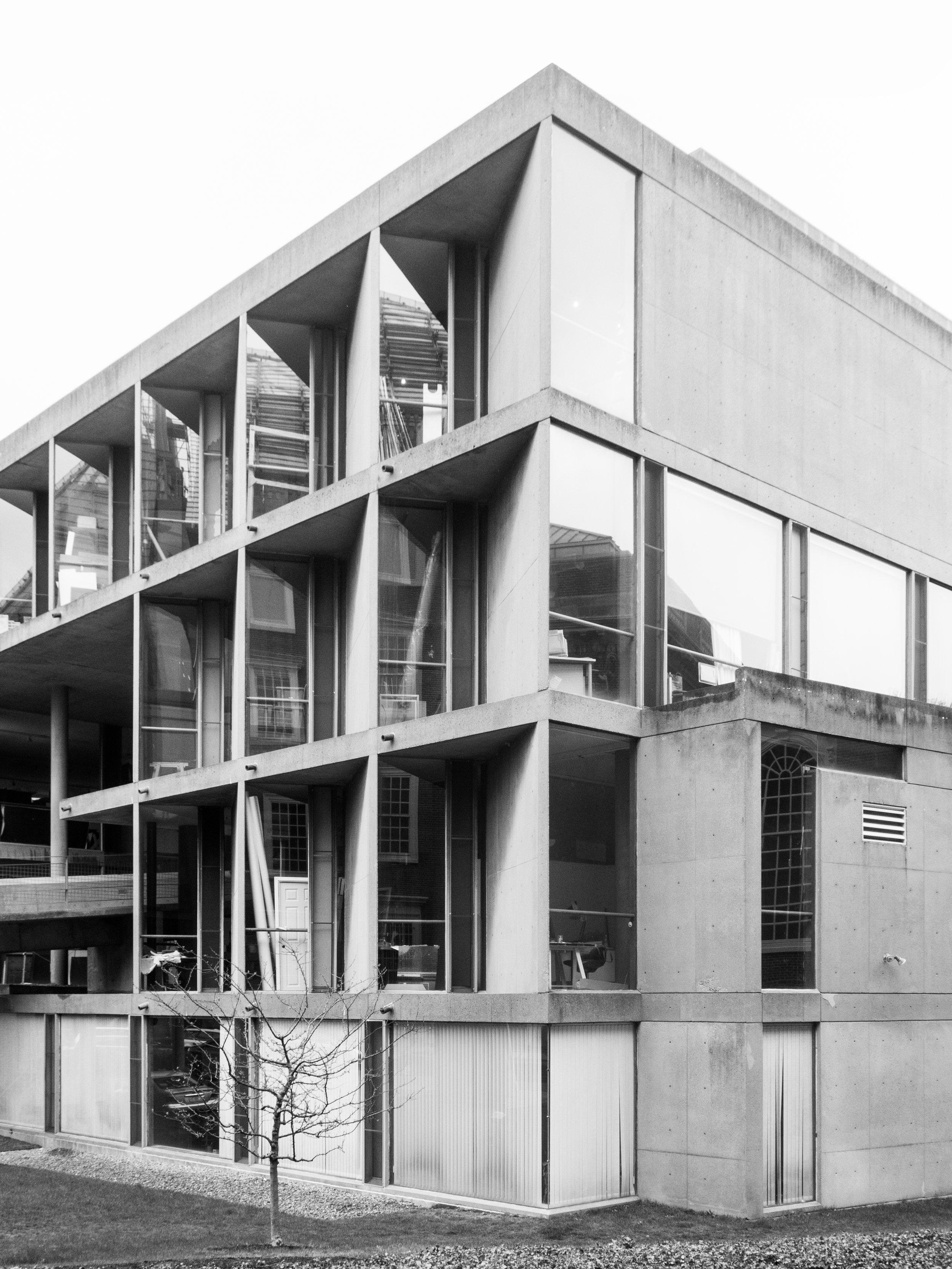 Carpenter Centre for the Visual Arts designed by Le Corbusier, Harvard University