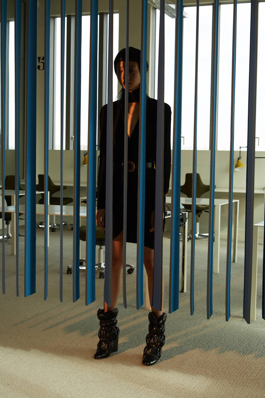 Dress and Belt  VERSACE    Shoes  STUART WEITZMAN