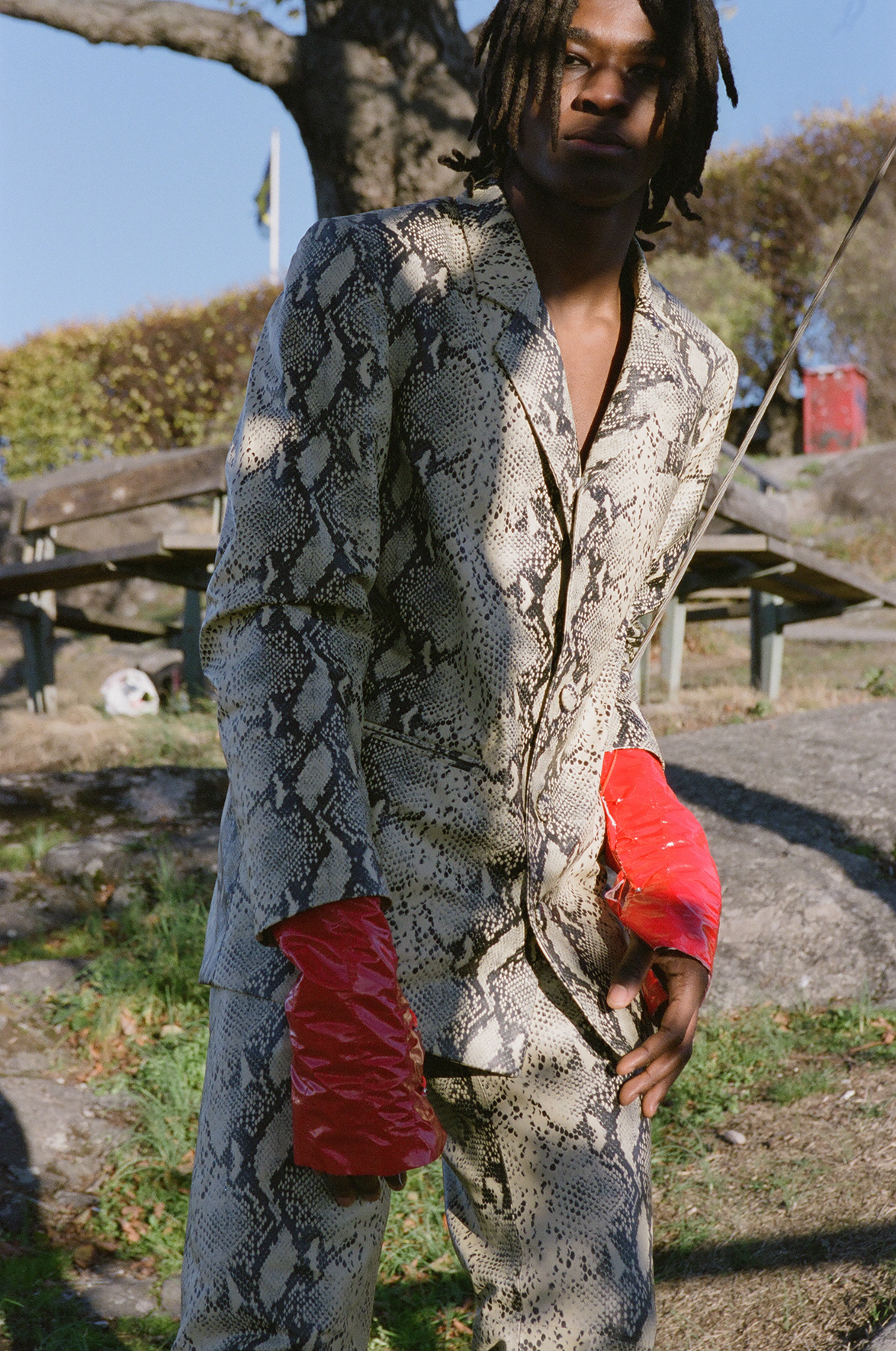 Jacket and trousers  NAND  Gloves  AMANDA VARHAUGVIK