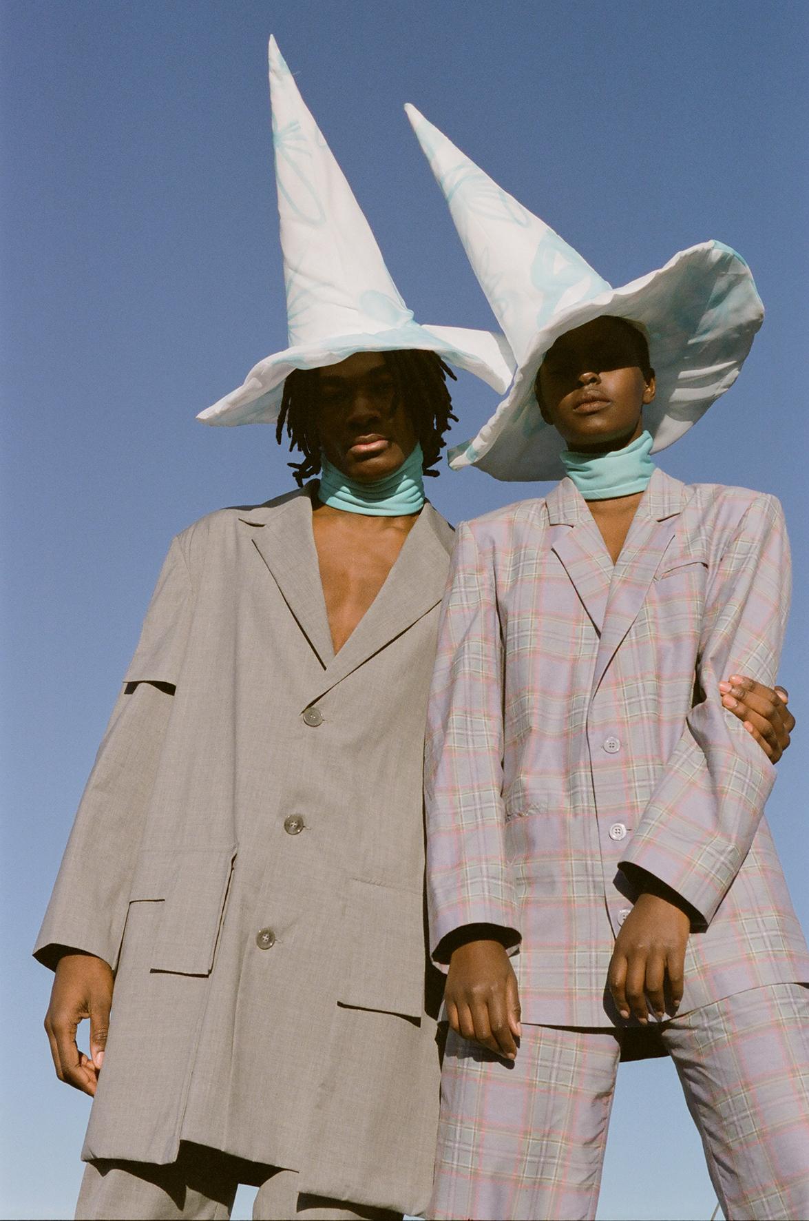Jacket and trousers  NAND  Hats  AMANDA VARHAUGVIK