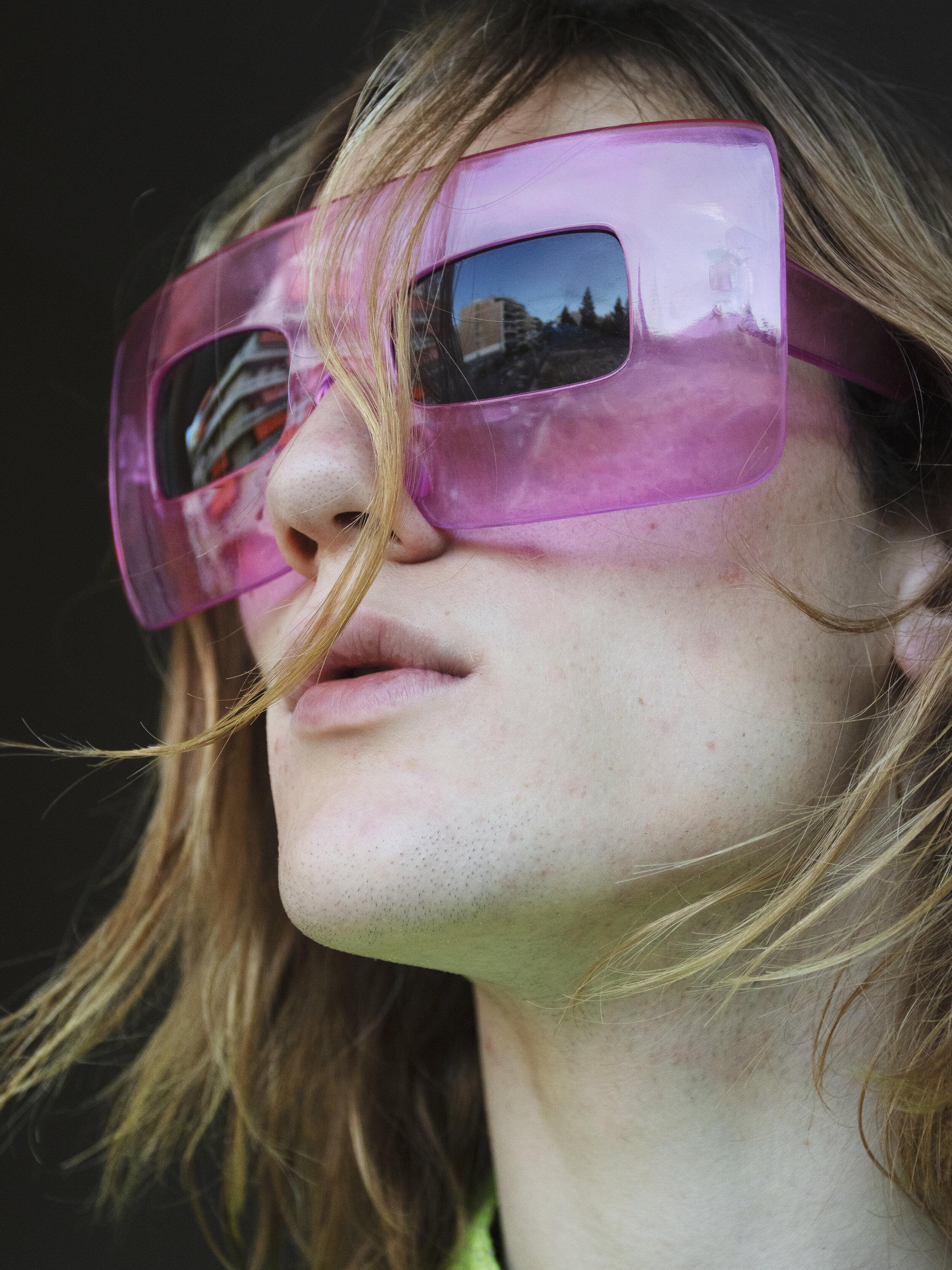 Leather Jacket  LAURA KENT  Sunglasses  KILO SHOP ATHENS