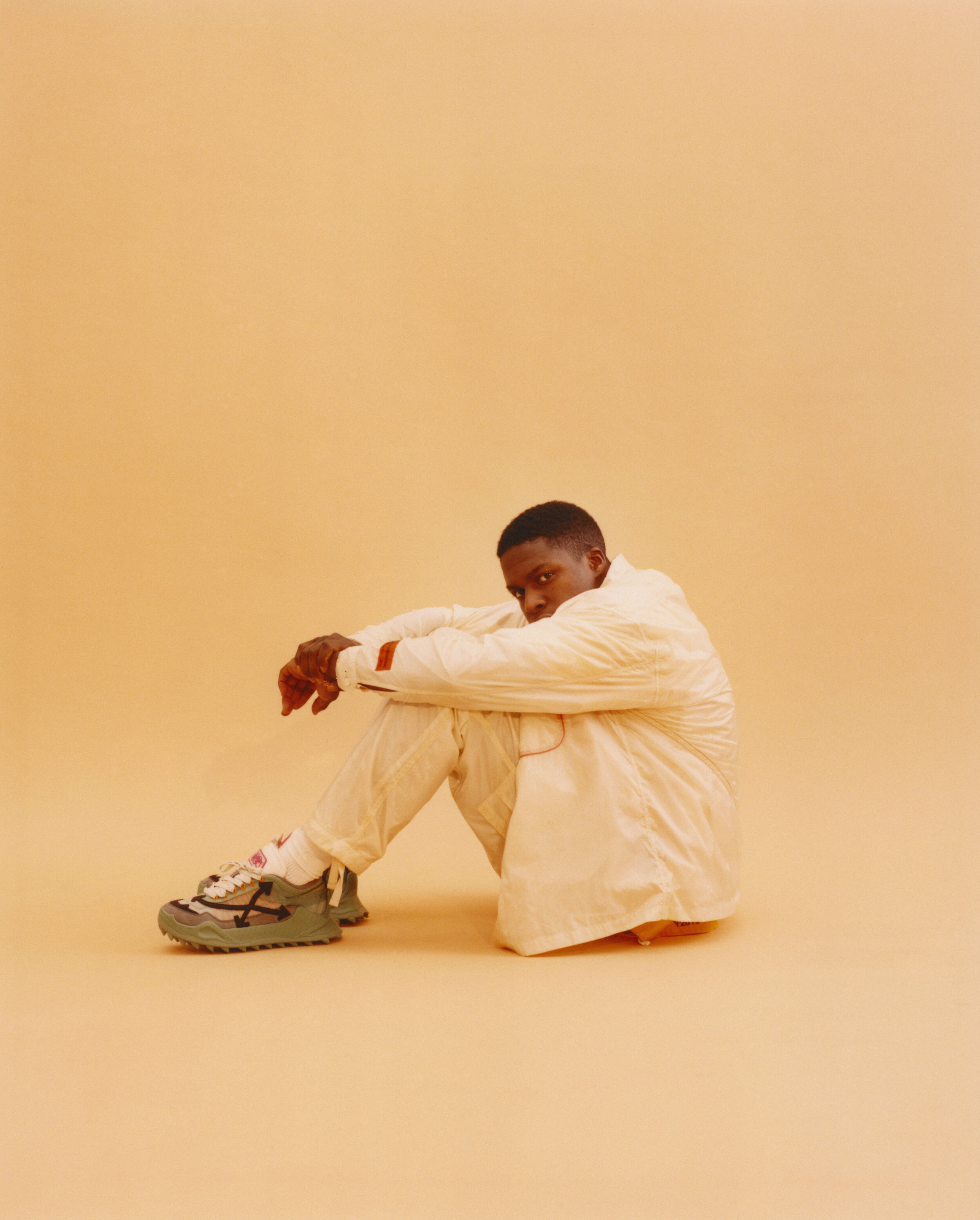 Top and Trousers  HERON PRESTON    Shirt and Shoes  OFF-WHITE