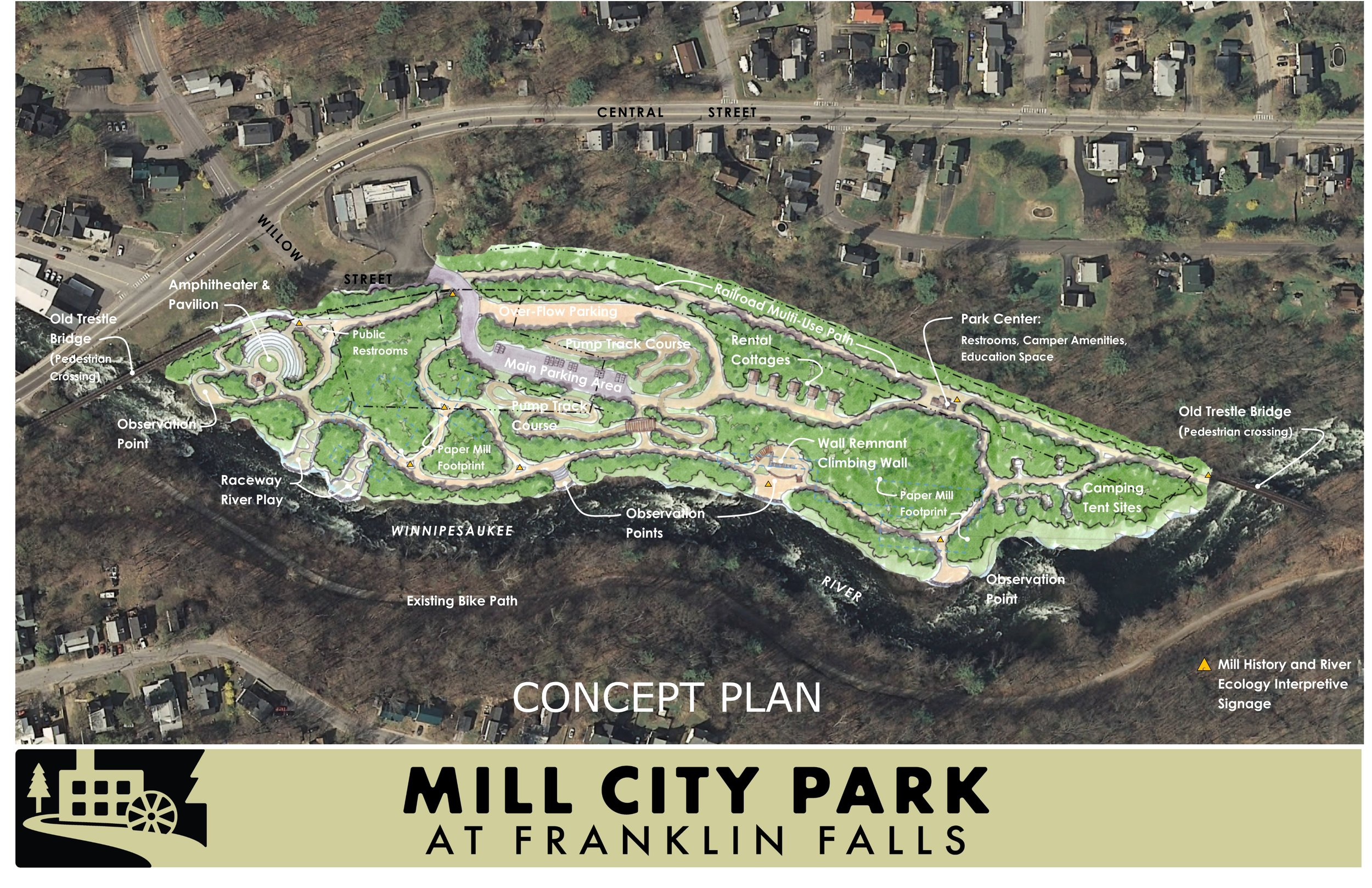Draft Concept Plan Master Plan Design was produced with positive collaborations between Resilience, Planning & Design and Mill City Park.