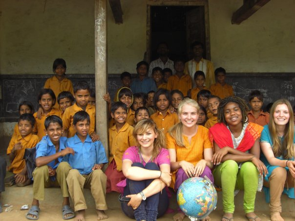 Tamia, during a SEED-sponsored trip to India, where she volunteered at a school.
