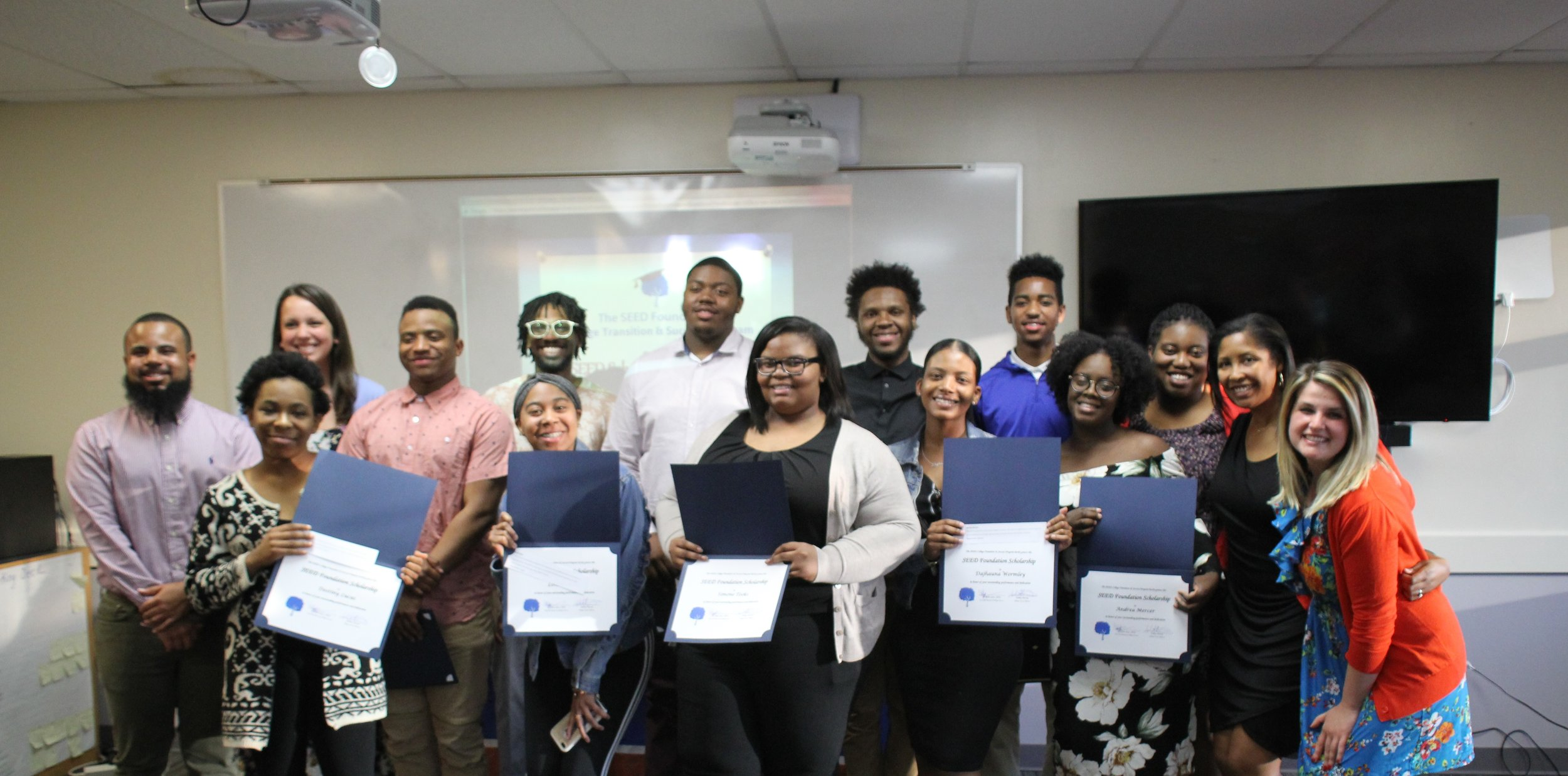 The 2018 SEED Foundation Scholarship winners!