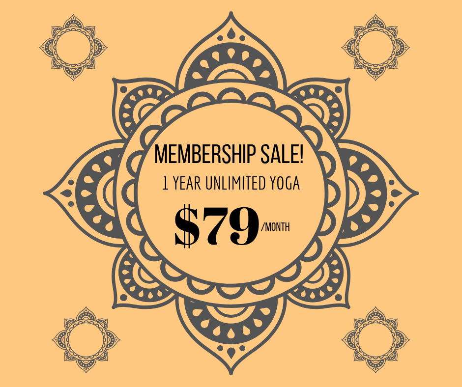 1 YEAR UNLIMITED MEMBERSHIP $79/MONTH