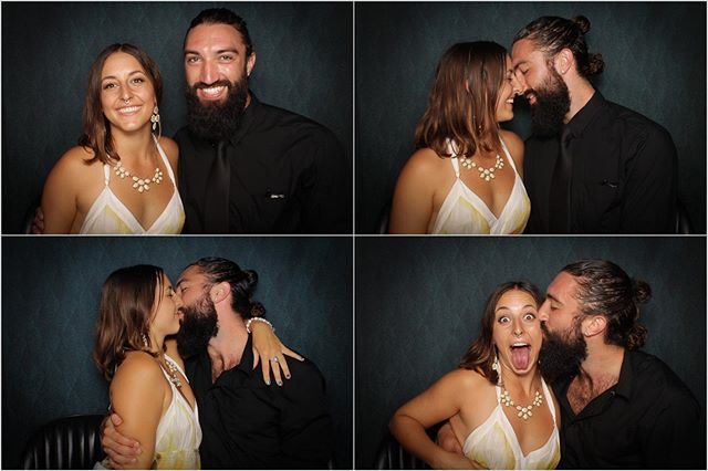 Their first kiss! In the photo booth! When this beautiful couple stepped outside of the booth, they told us that they have been dating for two months and that they finally had their first kiss.