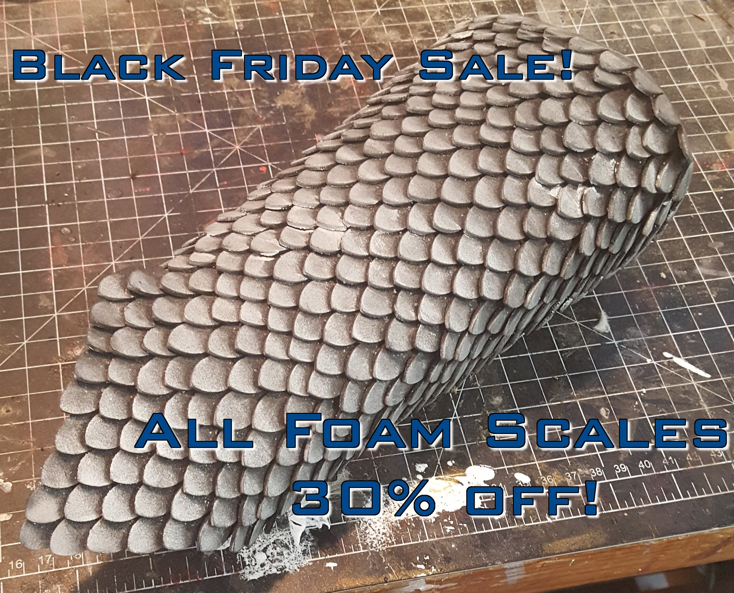 We are having a sale on all foam scales this weekend! Sale Ends Monday! Time to stock up on all those foam scales you need for future projects! They also make a great gift to the cosplayer or crafter in your life!
