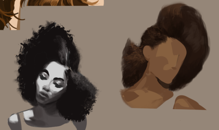 Since I was practicing hairstyles and textures, as well as improving my speed, I was happy with these results.