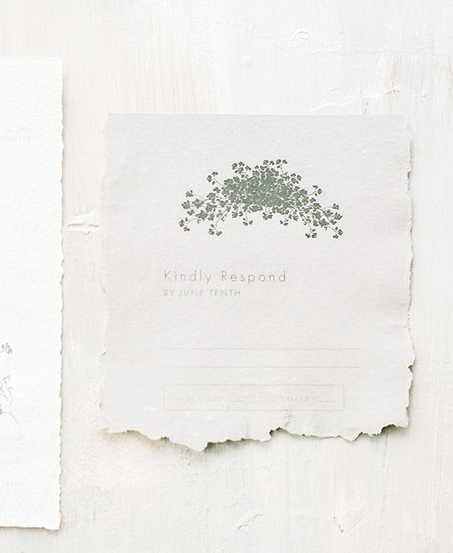 Fine Art Wedding Stationery Reply Card