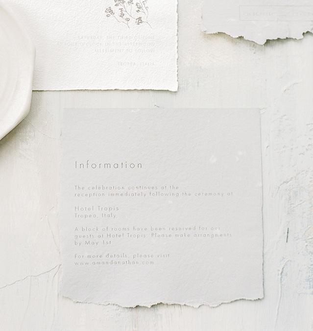 Wedding Stationery Details Card
