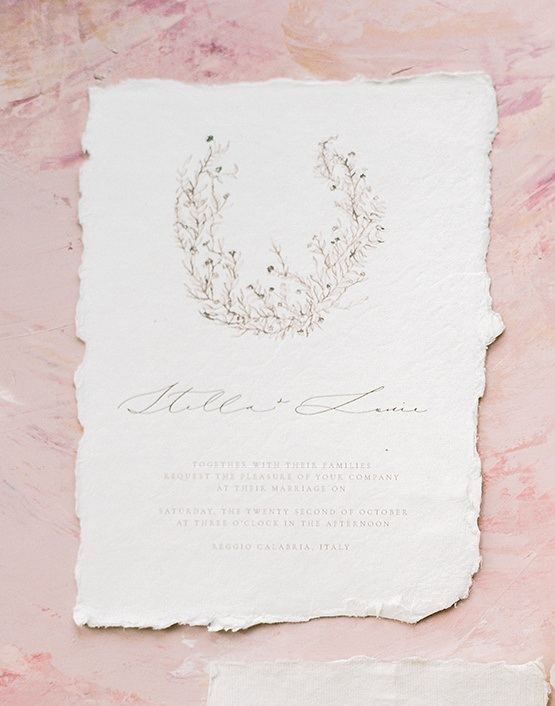 Botanical Fine Art Wedding Invitation