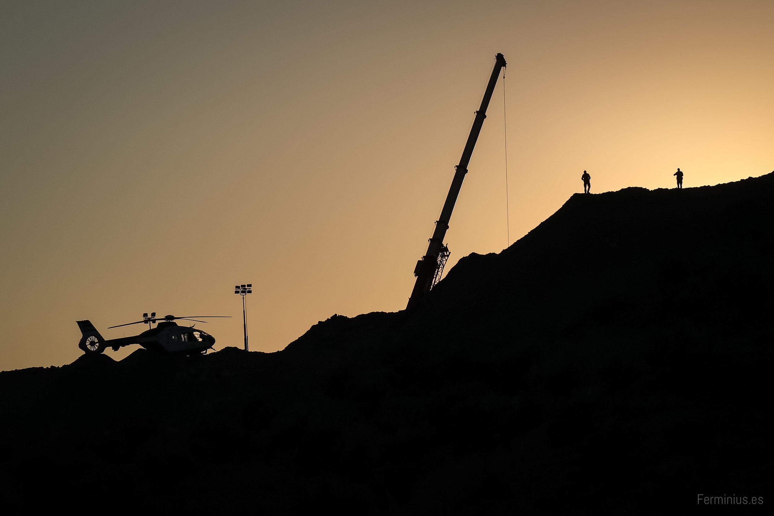 25/01/19 - Vista del cerro donde se busca a Julen, el pequeño que cayó a un pozo en Totalán (Málaga).