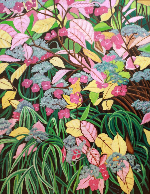 """""""Hydrangea, Autumn, 4"""", 52 x 40, Oil, $4,000"""