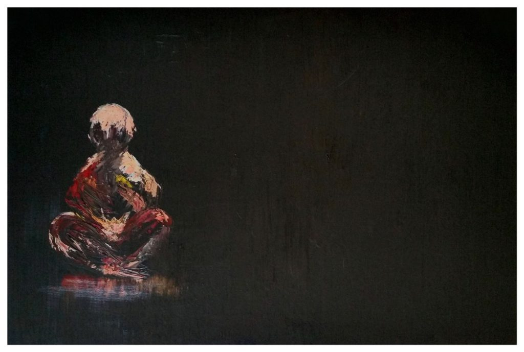 """The Mind is a Clean Canvas""; Oil on Canvas; 24 x 36 in; painting by Srividya Kannan Ramachandran"