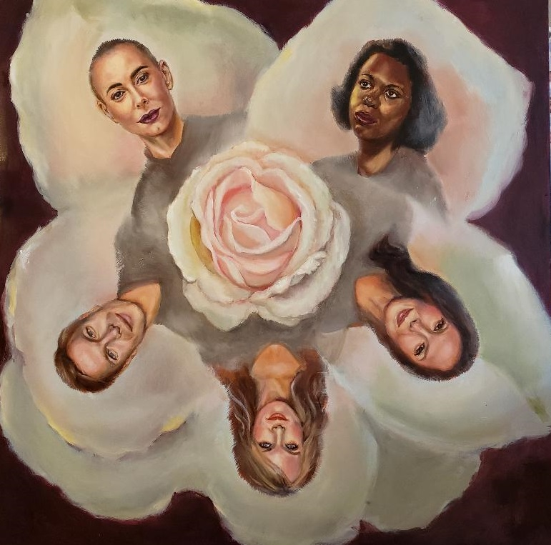 """""""A Rose for Rose"""", Oil on canvas 48"""" x 48"""", $6,000"""