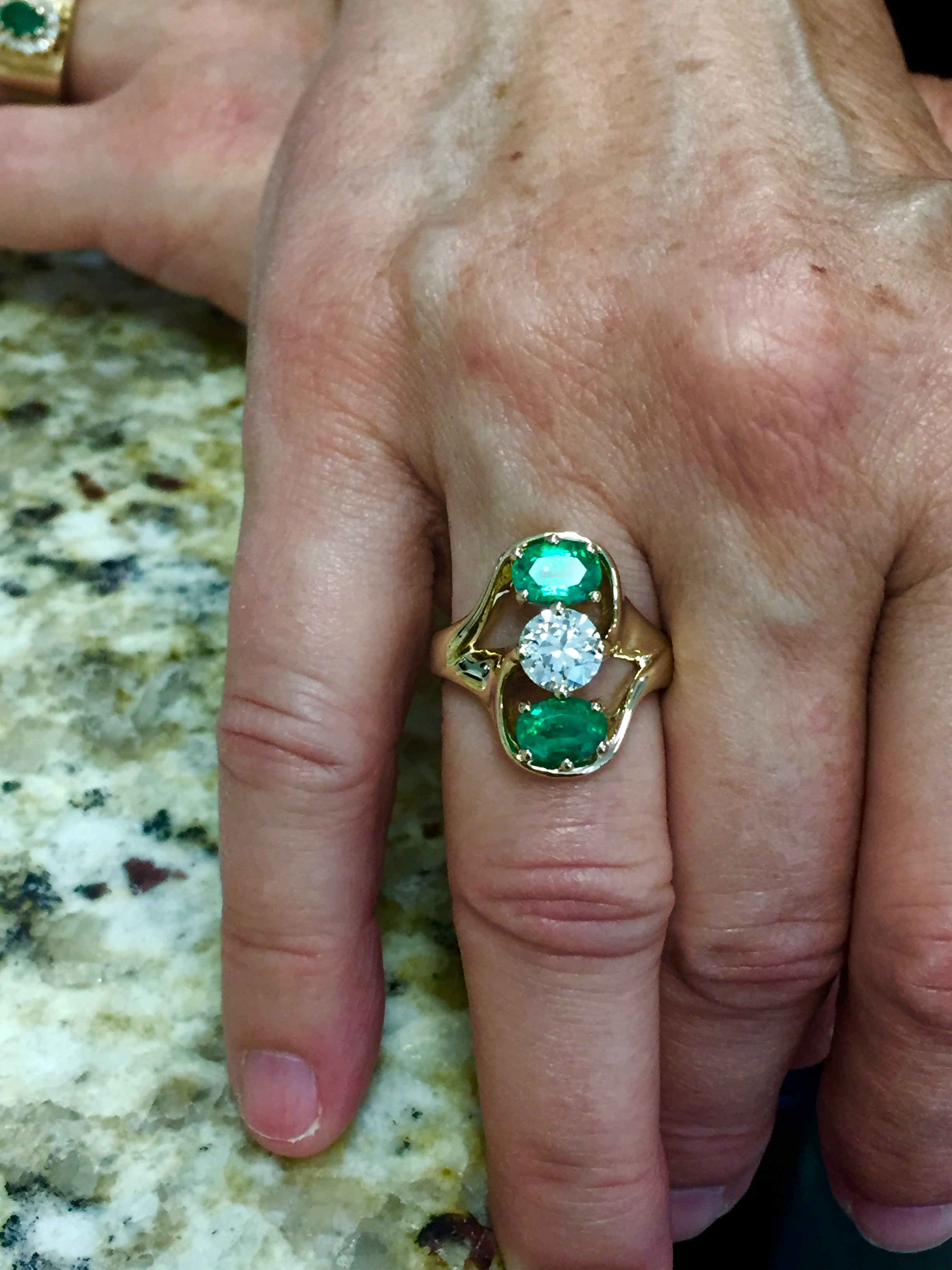 Customer's New Diamond Emerald Ring