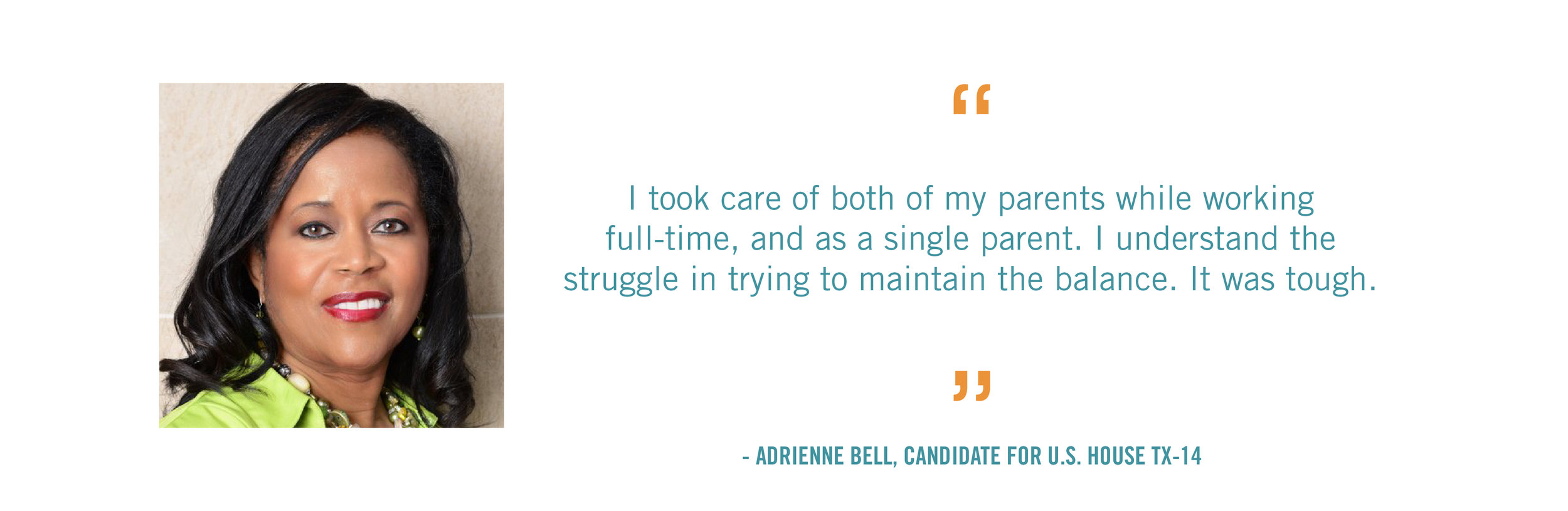 I took care of both of my parents while working full-time, and as a single parent. I understand the struggle in trying to maintain the balance. It was tough.