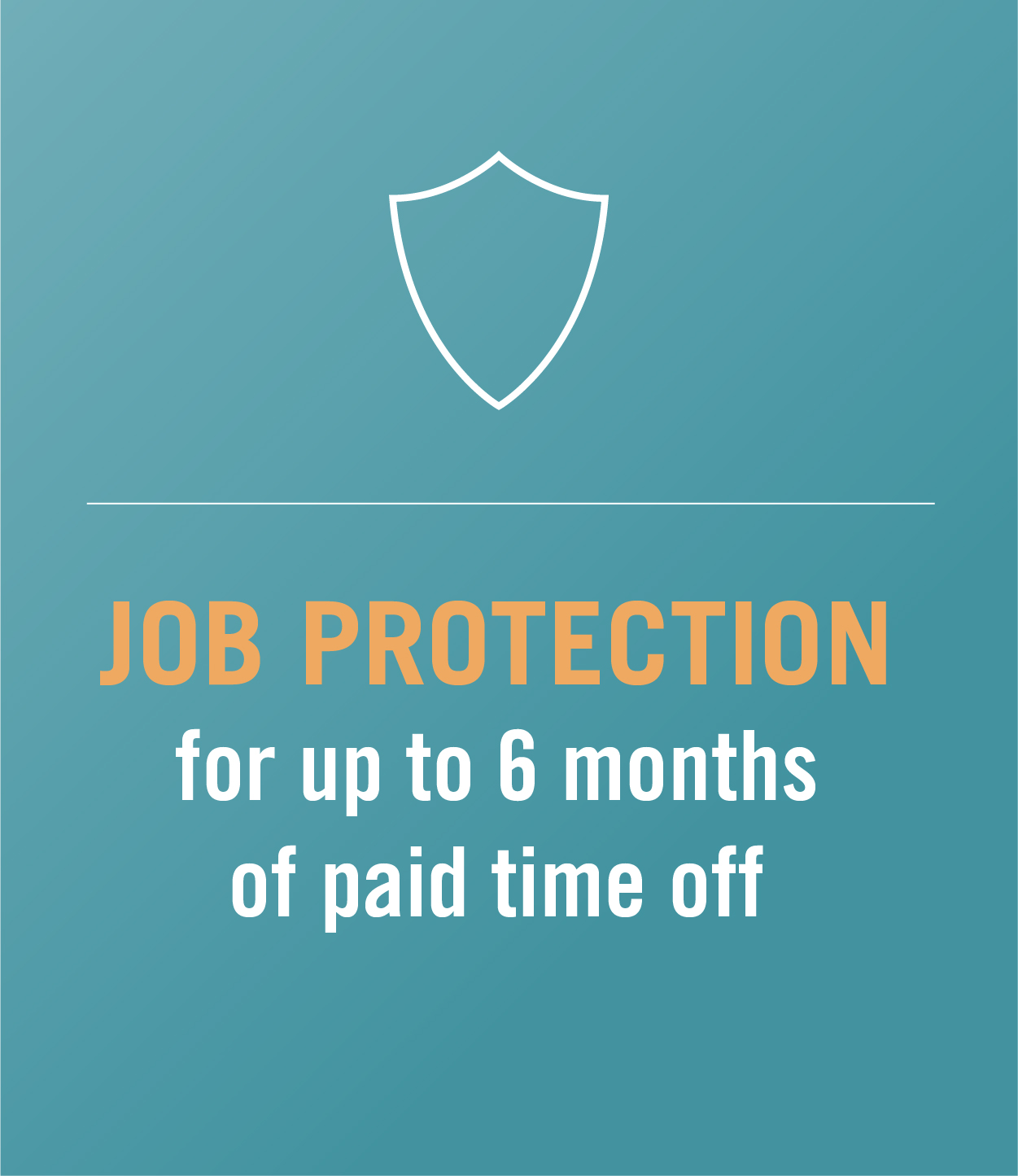 job protection for up to 6 months of paid time off