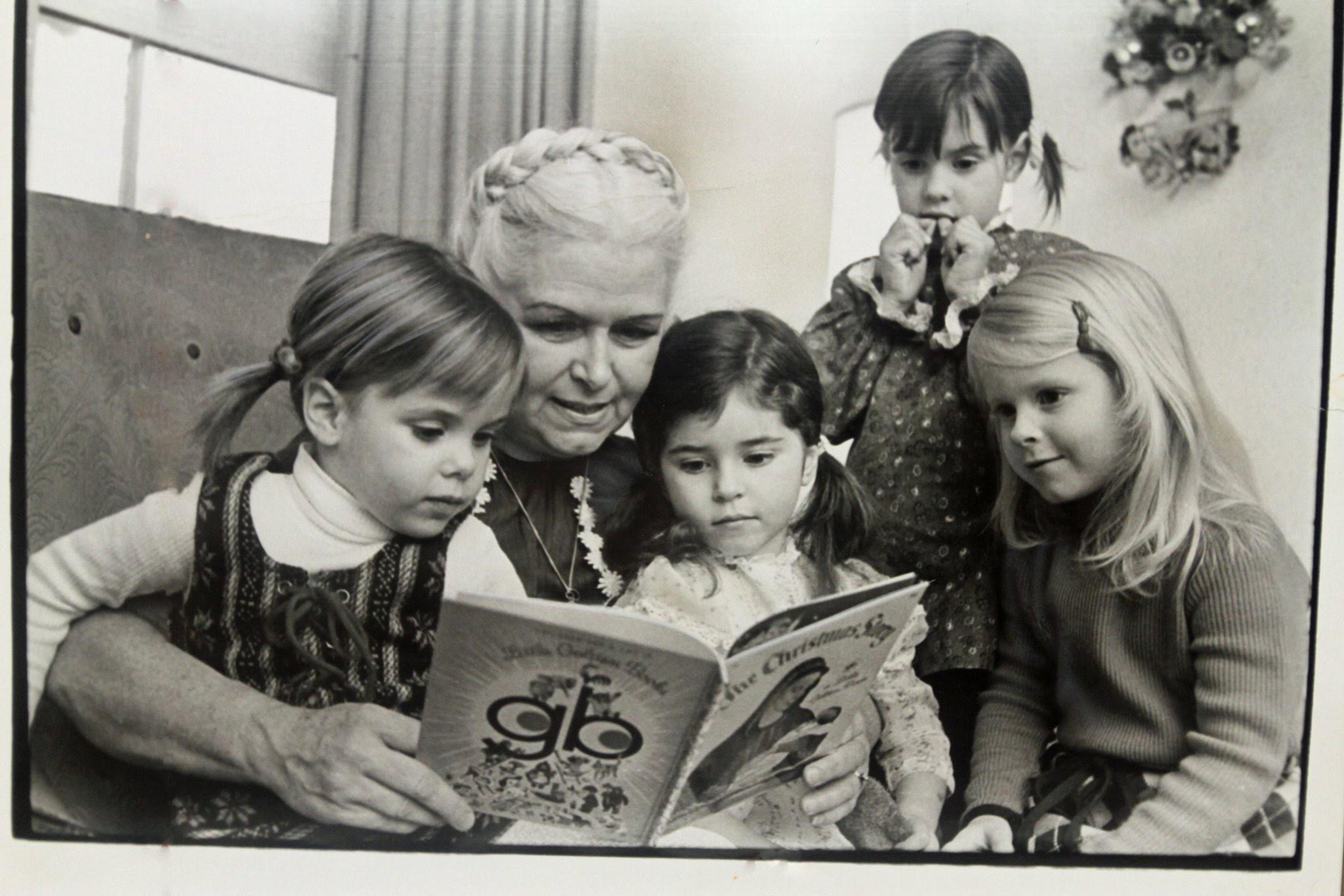 Mum reads to grandchildren on TV Christmas Special