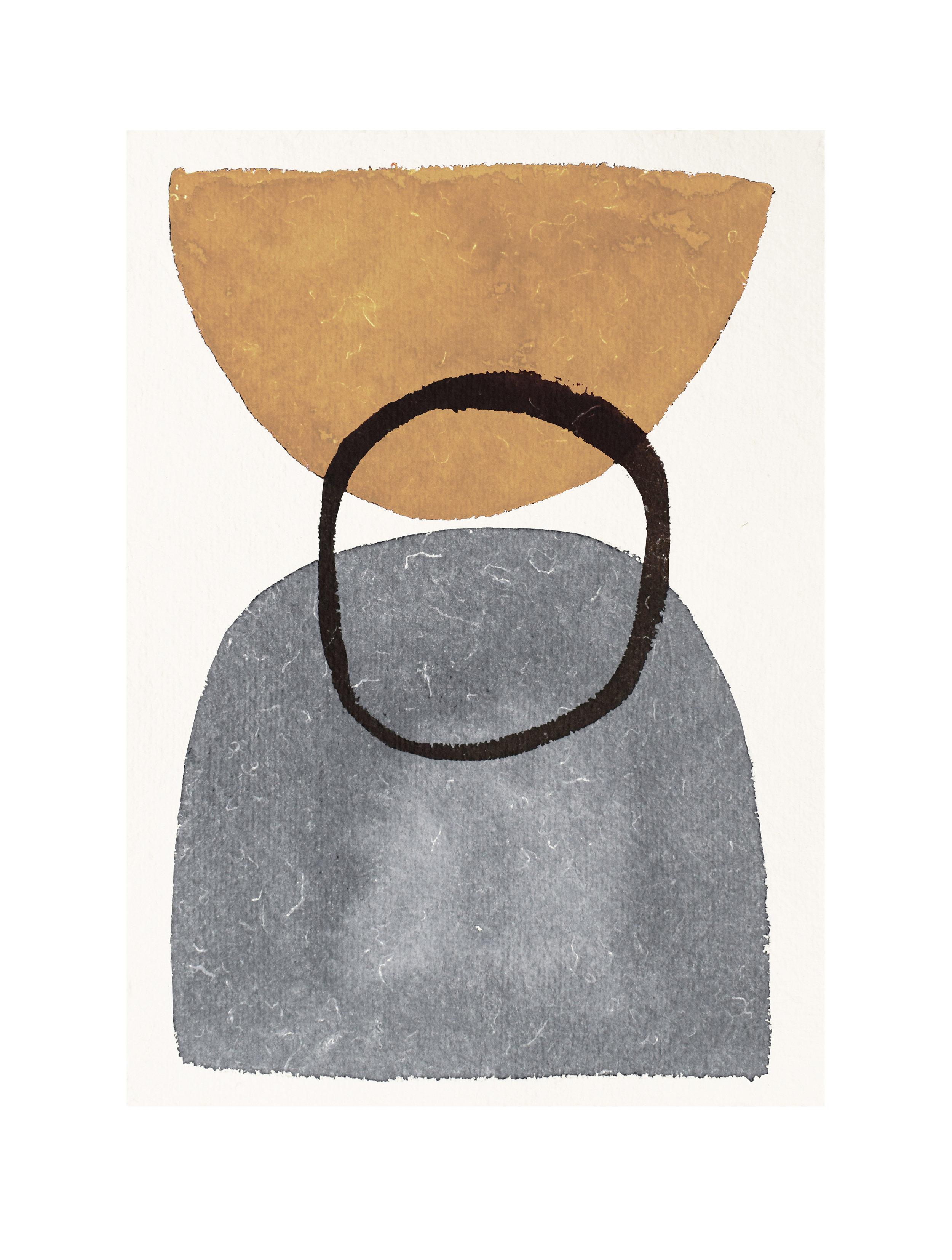 ©mogensenlopez.  limited edition: digital art print from painting on handmade paper https://www.houz.no/produkt/ochre-1-30x40/