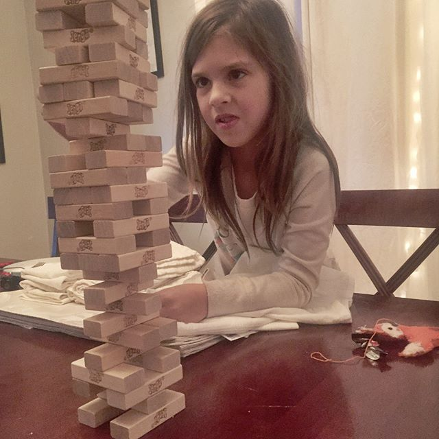 Family game fun!  #jenga #operation