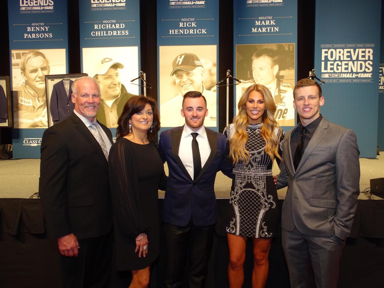 Whit's beautiful family - Rick Ward, Shawnee Ward, Austin Dillon, Whitney Ward and Jackson Ward