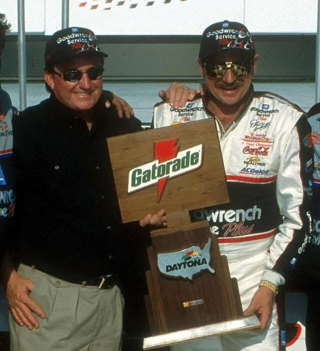 Car owner Richard Childress and driver Dale Earnhardt